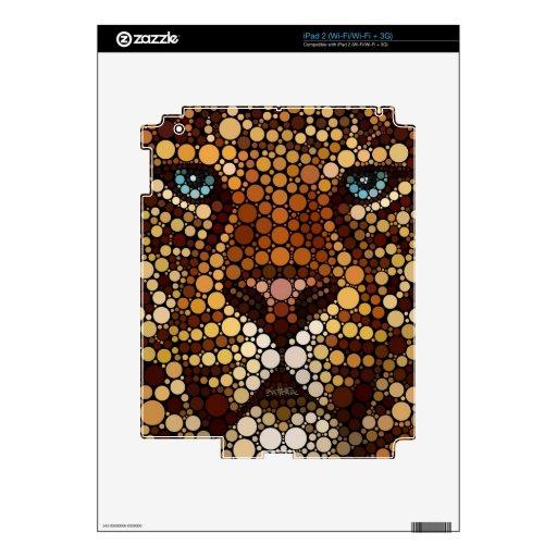 Leopardo hecho de círculos iPad 2 calcomanías