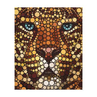 Leopardo hecho de círculos impresión en lona