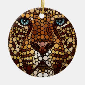 Leopardo hecho de círculos ornamentos de reyes