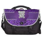 Leopardo lindo de la púrpura del elefante bolsas de portátil