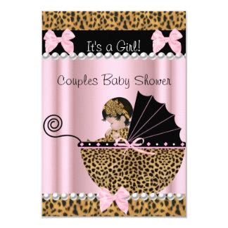 Leopardo lindo del rosa del chica de la fiesta de