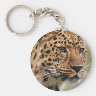 Leopardo Llavero Redondo Tipo Chapa