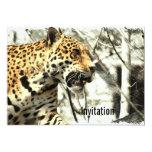 leopardo moderno elegante del safari de África Invitación 12,7 X 17,8 Cm