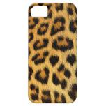 leopardo natural salvaje del caso de Barely There  iPhone 5 Carcasas