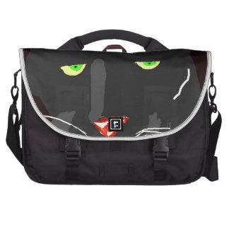 Leopardo negro bolsas de portatil