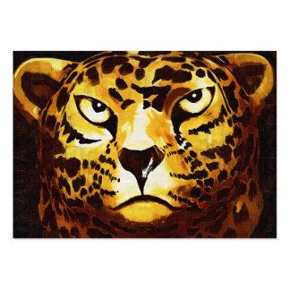 Leopardo - negro, estilo gótico (l4goth) tarjetas de visita grandes
