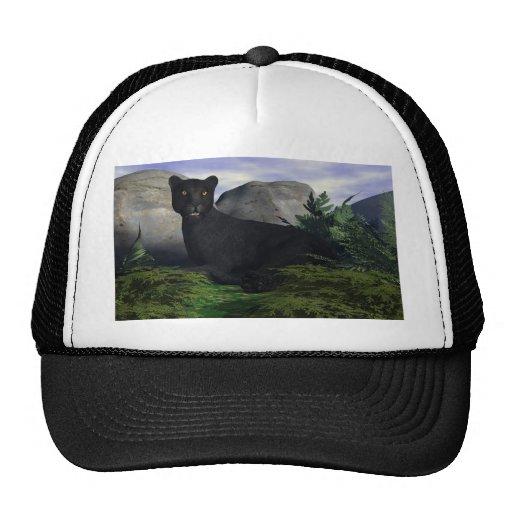 Leopardo negro gorras de camionero
