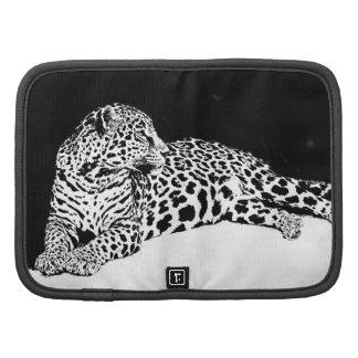 Leopardo negro y blanco planificador