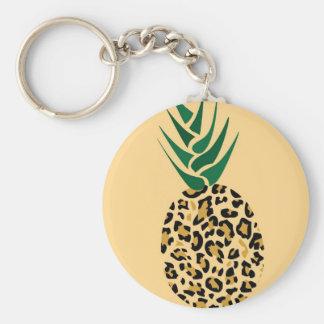 ¿Leopardo o piña? Imagen divertida de la ilusión Llavero Redondo Tipo Pin
