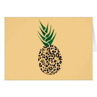 ¿Leopardo o piña? Imagen divertida de la ilusión Tarjeta De Felicitación