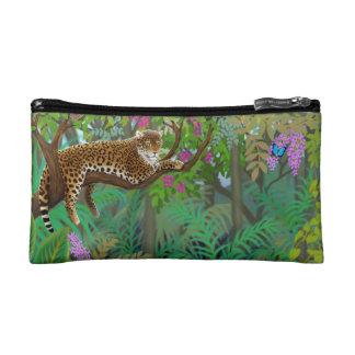 Leopardo pacífico en el bolso de Bagettes de la se