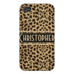 Leopardo Pern iPhone 4/4S Carcasas