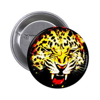 Leopardo Pin Redondo De 2 Pulgadas