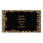 leopardo plantillas de tarjeta de negocio