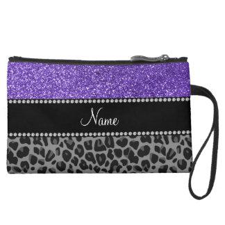Leopardo púrpura conocido personalizado del negro