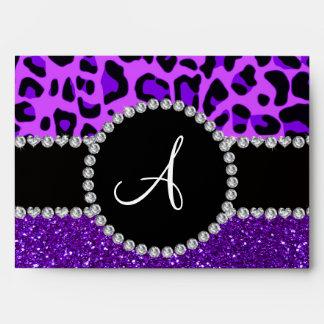 Leopardo púrpura de neón del brillo púrpura del