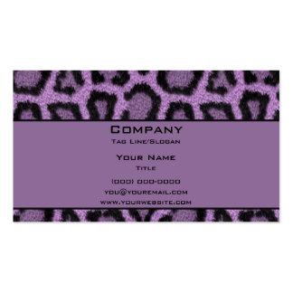 Leopardo púrpura tarjeta personal