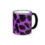 Leopardo púrpura taza