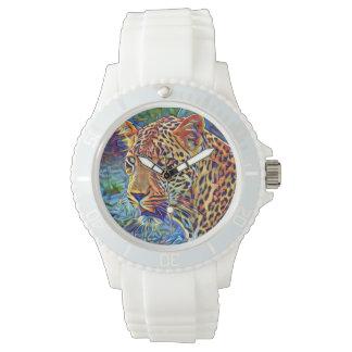 leopardo reloj de mano
