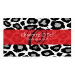 leopardo; rojo plantilla de tarjeta de negocio