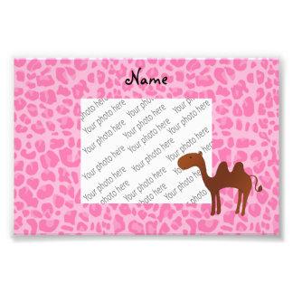 Leopardo rosa claro personalizado del camello fotografía