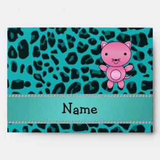 Leopardo rosado conocido personalizado de la turqu