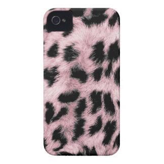 Leopardo rosado de encargo de Africankoko Funda Para iPhone 4 De Case-Mate