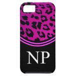 Leopardo rosado del caso del iPhone 5 del médico d iPhone 5 Cobertura