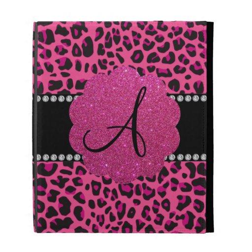 Leopardo rosado del monograma