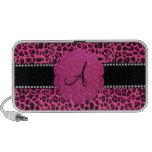 Leopardo rosado del monograma iPhone altavoz