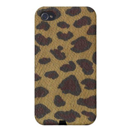 Leopardo salvaje de la cosa por el orangután de Kr iPhone 4 Fundas
