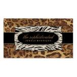 Leopardo sofisticado 2 de la selva 311 tarjetas de negocios