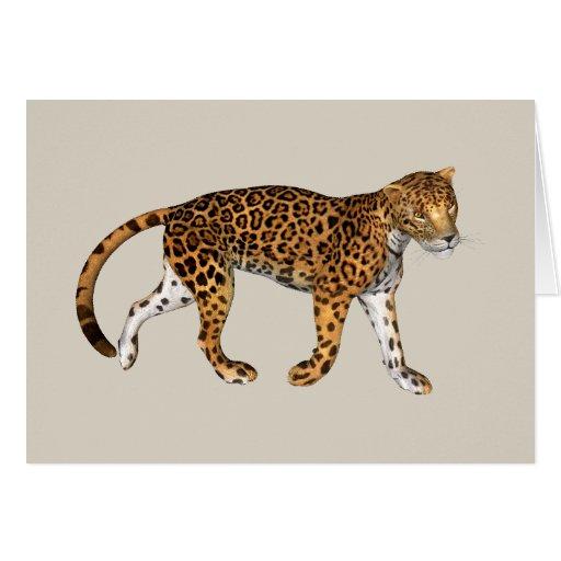 Leopardo Tarjeta De Felicitación