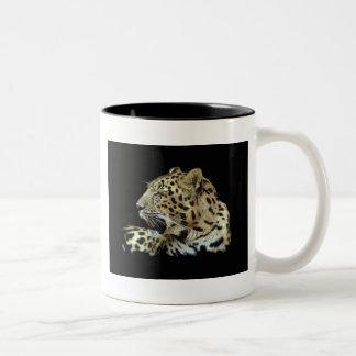 Leopardo Taza De Dos Tonos