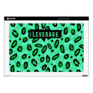 """Leopardo verde de encargo 17"""" piel del ordenador calcomanía para 43,2cm portátil"""
