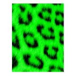 Leopardo verde de encargo de Africankoko, piel del Postales