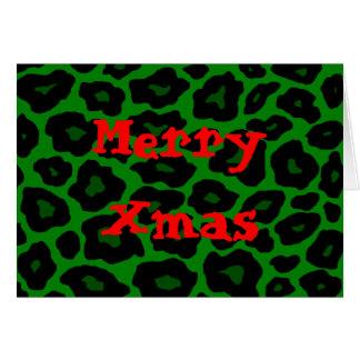 Leopardo verde tarjeta de felicitación