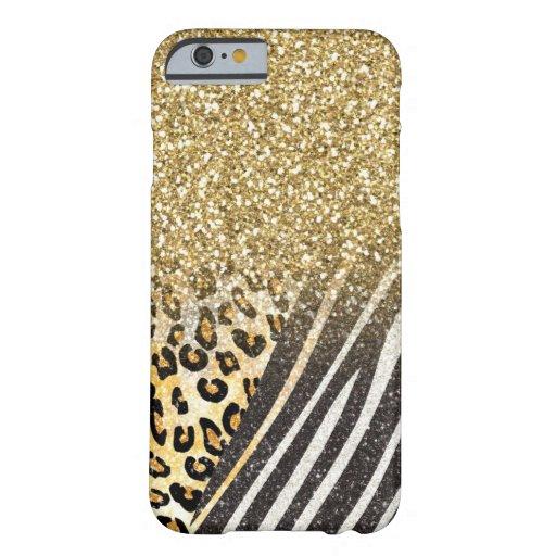 Leopardo y cebra de moda femeninos impresionantes funda de iPhone 6 barely there