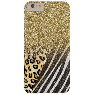 Leopardo y cebra de moda femeninos impresionantes funda de iPhone 6 plus barely there
