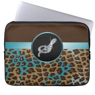 Leopardo y cinta del trullo de Brown del Mangas Computadora