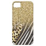 Leopardo y estampado de zebra de moda femeninos im iPhone 5 Case-Mate cobertura