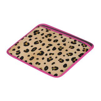 Leopardo y manga de aire rosada de Macbook Fundas MacBook