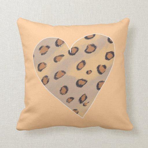 Leopardos del corazón, almohadas de encargo