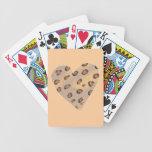 Leopardos del corazón, naipes de encargo baraja cartas de poker