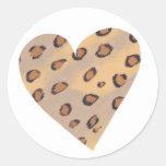 Leopardos del corazón, pegatinas de encargo