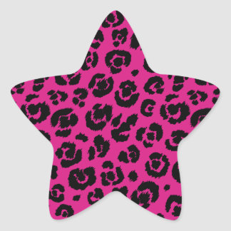 leopardpatternhotpink.png pegatina en forma de estrella