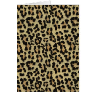 Leopardprint Greeting Card