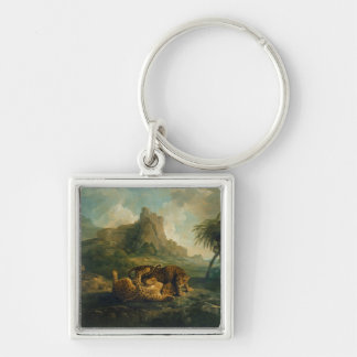 Leopards at Play, c.1763-8 Keychain
