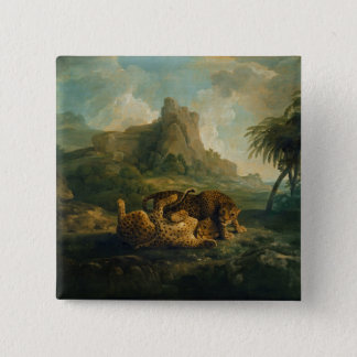 Leopards at Play, c.1763-8 Pinback Button