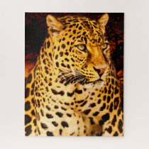 Leopards Big Cats. Jigsaw Puzzle